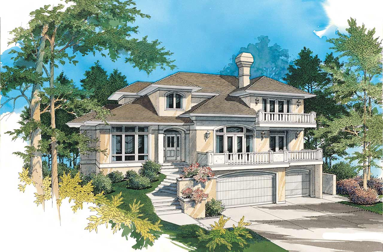 Contemporary Style House Plans Plan: 74-372