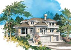 Contemporary Style Floor Plans Plan: 74-372