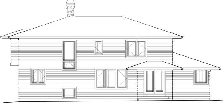 Rear Elevation Plan: 74-373