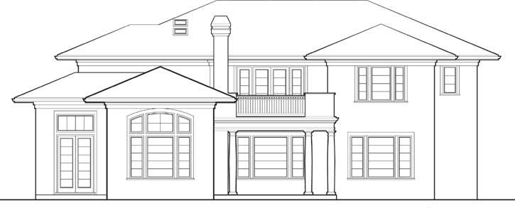 Rear Elevation Plan: 74-381