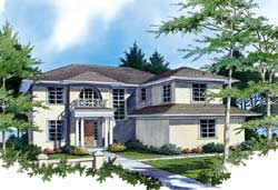 Contemporary Style House Plans Plan: 74-381