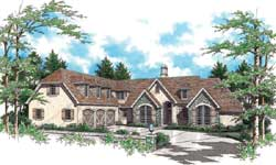 English-Country Style House Plans Plan: 74-382