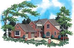 European Style House Plans Plan: 74-385