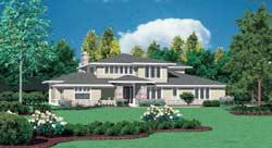 Prairie Style Floor Plans Plan: 74-388