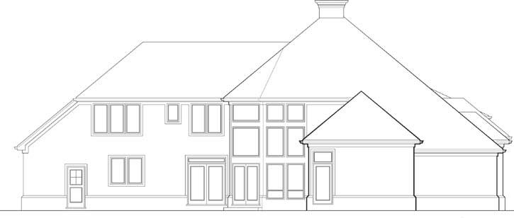 Rear Elevation Plan: 74-391