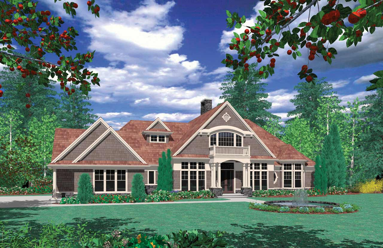 Craftsman Style Home Design Plan: 74-396