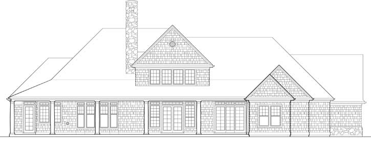 Rear Elevation Plan: 74-396