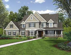 Country Style Floor Plans Plan: 74-402