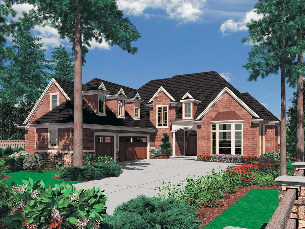 Cape-cod Style Home Design Plan: 74-405
