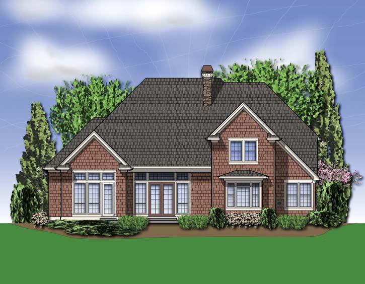 Rear Elevation Plan: 74-405