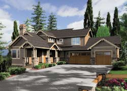 Craftsman Style Home Design Plan: 74-406