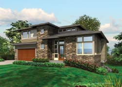 Contemporary Style Floor Plans Plan: 74-413