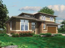 Prairie Style Floor Plans Plan: 74-414