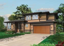 Contemporary Style Home Design Plan: 74-415