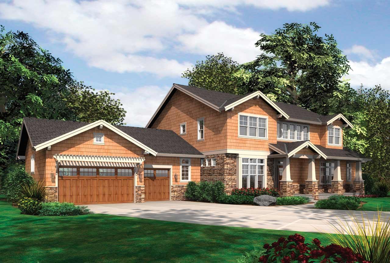 Craftsman Style Home Design Plan: 74-417