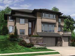 Contemporary Style Home Design Plan: 74-421