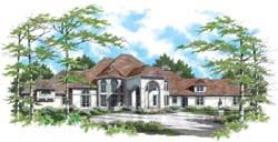 European Style House Plans Plan: 74-428