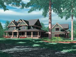 Country Style Floor Plans Plan: 74-437