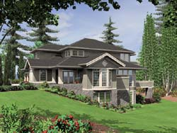 Craftsman Style Floor Plans Plan: 74-441