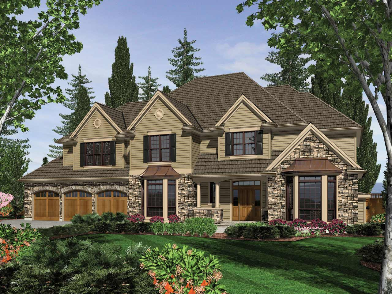 Traditional Style Floor Plans Plan: 74-456