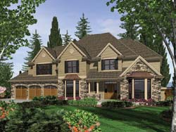Traditional Style Home Design Plan: 74-456
