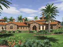 Mediterranean Style House Plans Plan: 74-457