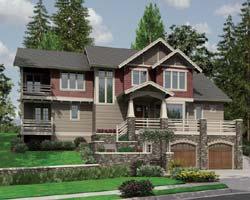 Craftsman Style Home Design Plan: 74-463