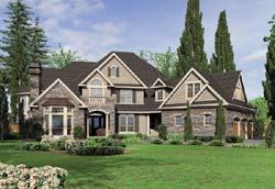 European Style Home Design Plan: 74-465