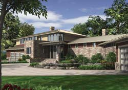 Contemporary Style House Plans Plan: 74-468
