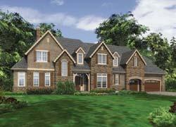 European Style Home Design Plan: 74-472