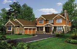 Craftsman Style Home Design Plan: 74-474