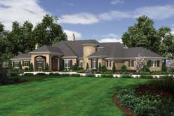 European Style Home Design Plan: 74-478