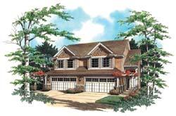 Craftsman Style Home Design Plan: 74-484
