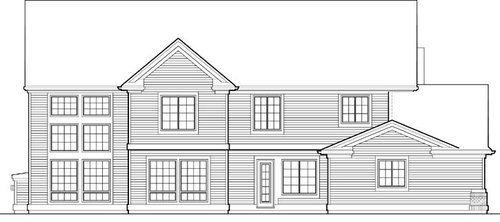 Rear Elevation Plan: 74-490