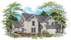 Colonial Style Floor Plans Plan: 74-490