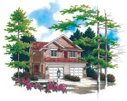 Craftsman Style Home Design Plan: 74-491