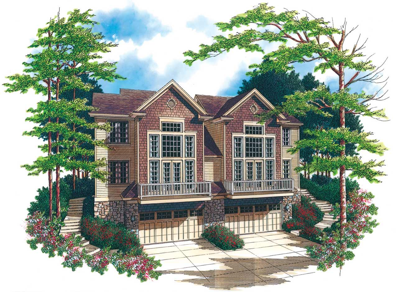 Craftsman Style Home Design Plan: 74-493