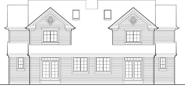 Rear Elevation Plan: 74-493