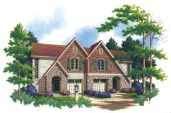 Cottage Style Floor Plans Plan: 74-495