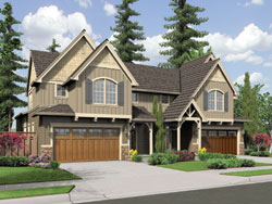 Craftsman Style Home Design Plan: 74-504