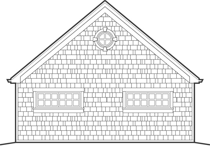 Rear Elevation Plan: 74-509