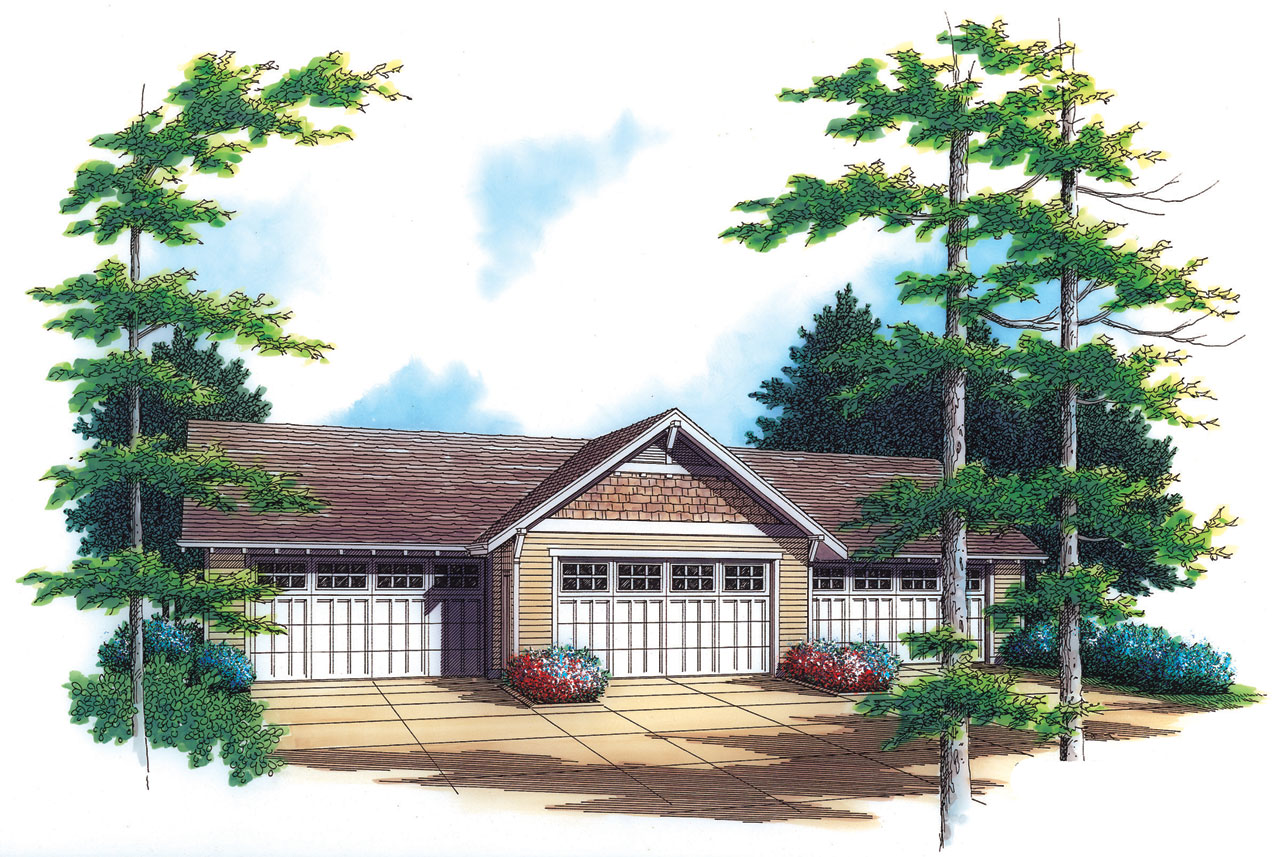 Craftsman Style Floor Plans 74-511