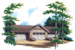 Craftsman Style Floor Plans Plan: 74-511