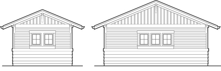 Rear Elevation Plan: 74-513