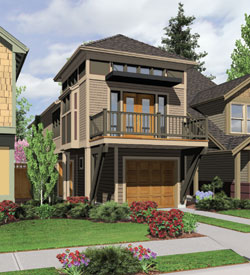 Coastal Style Floor Plans Plan: 74-538