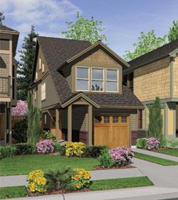 Coastal Style Home Design Plan: 74-539