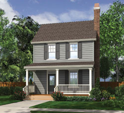 Coastal Style Floor Plans Plan: 74-553