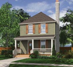 Cottage Style Floor Plans Plan: 74-554