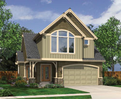 Coastal Style Home Design Plan: 74-555