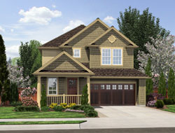 Cottage Style Home Design Plan: 74-560